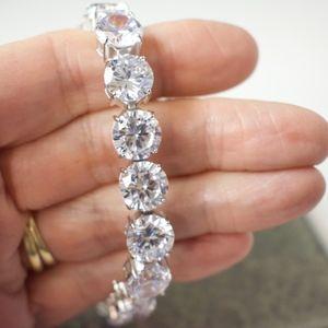"""Jewelry - 925 Sterling Silver Cubic Zirconia Bracelet 7-3/4"""""""